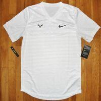 Nike Rafa Challenger Tennis Short Sleeve Shirt Mens S CI9148-100 Dri-Fit Nadal