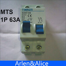 1P 63A MTS Manual transfer switch Circuit breaker MCB 50HZ/60HZ 400~