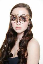 Elegant Rose Gold Venetian Laser Cut Masquerade Mask BD004RG Mardi Gras Prom