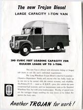 Trojan diesel de gran capacidad de 1 toneladas van oficial anuncios hoja de ventas 1956