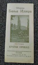 Vintage Travel brochure -  SARAJEVO, Banja (SPA) ILIDZA, kingdom of Yugoslavia