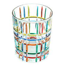 Murano Glass Drinking Artisan Glass Tumbler Multi-Coloured Handmade 10cm