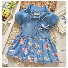 2-3Y USA STOCK Girl Princess Dress Kid Baby Party Wedding Pageant Dresses Clothe