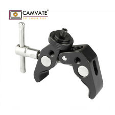 """CAMVATE Super Clamp Dual-ended 1/4""""-20 Male Screw Adapter for DSLR Camera Light"""