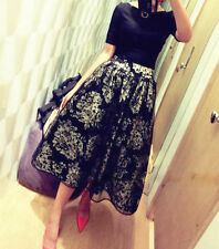 Lace Long Floral Maxi Skirts for Women