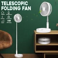 USB Rechargeable Telescopic Folding Fan Desktop Landing Fan Air Cooler 4   **%