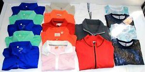 Lot of 50 Women's Golf Polos Sweaters Jackets Nike Adidas Golfino EP Woolrich