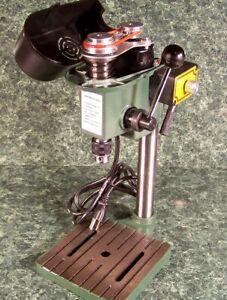 TINY MINI HOBBY BENCH DRILL PRESS 3 speed Variable Vise Mounting Slots FREE Belt
