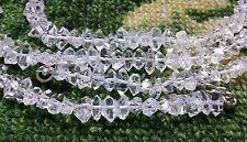Water Clear Diamond Quartz terminated beading necklaces 10 Pcs lot 9-10 mm