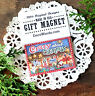 """DecoWords Fridge MAGNET Crazy About Christmas 2""""x3"""" Cute Gift for Friend USA New"""