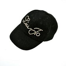 LIU JO WOOL Hat Baseball Cup Glittereed gems Logo SML One size fits all BLACK