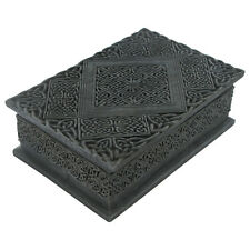 Celtic Gothic Black Trinket Storage Box Intricate Pattern Pagan Magic Gift 34162