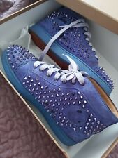 Men's Christian Louboutin Purple Spikes Louistrainers sneakers shoes Size 42