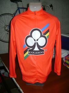ITALIA BIKE JERSEY COLNAGO BIKE ITALIAN SHIRT SIZE XL COOL ITALY RED LONG SLEEVE