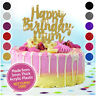 Custom Happy Birthday Mum Cake Topper PERSONALISED Mummy Nanny Glitter Acrylic