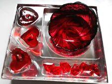 Geschenk-Set 10 tlg Gelkerze mit Dekosteine im Glas Nr. 1227