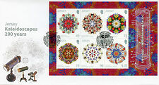Jersey 2017 FDC Kaleidoscopes Seashells Fish Bees Flowers 6v M/S Cover Stamps
