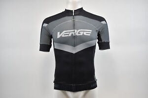 Verge Men's XS Primo Power Short Sleeve Cycling Jersey Black/Grey New