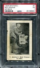 1926 Shotwell Red Grange Ad Back #7 America's Most Famous Ice Man PSA 1 -