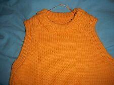 bnwot 60s 70s style mod go-go top by Zara dress s orange poloneck knit style