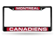 Montreal Canadiens NHL Black Metal Laser Cut License Plate Frame