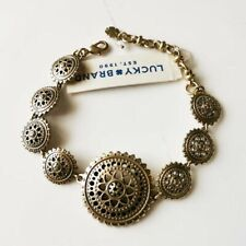 "New 7"" Lucky Brand Floral Bracelet Best Gift Vintage Women Party Holiday Jewelry"