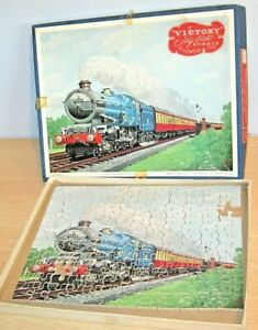 VICTORY Wooden Jigsaw Puzzle 'A WESTERN REGION EXPRESS' Train - two missing