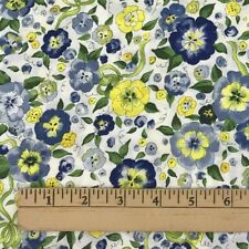 """21"""" Cotton Quilting Fabric Riverwoods Collection Floral Katrinka Sweetblossom"""