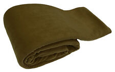 Olive Luxury Warm Soft Large 180cm x 254cm Fleece Sofa Couch Bed Blanket Throw