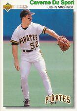 469 JOHN WEHNER PITTSBURGH PIRATES BASEBALL CARD UPPER DECK 1992