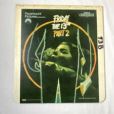 Friday The 13th: PART 2 (1983 Release) RCA Video Disc Horror Vintage CED SYSTEM