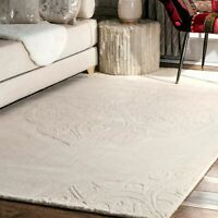 nuLOOM Country & Floral Hand Woven Strother Area Rug in Ivory
