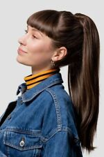 STRANDED INTERNATIONAL LONG STRAIGHT #111 (Pearl Moon). Heat Resistant Pony Tail