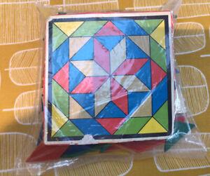 Vintage Wooden Children's Tangram Puzzle