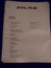 ORIGINAL liste pièces détachées 06/1985 stihl fs 65 - rareté