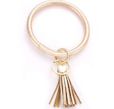 Keyring Bangle Bracelet, Leather Keyring Bracelet