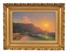"School of Ivan Aivazovsky ""Ships at Sunset"" O/C Lot 139"