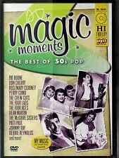 MAGIC MOMENTS~THE BEST OF 50S POP~04 MINT DVD~LOLLIPOP~BAND OF GOLD~SH-BOOM~MORE