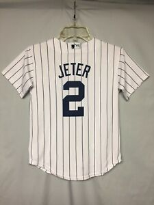 MLB New York Yankees Derek Jeter Majestic Cool Base Youth Jersey Size Small