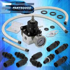 For Toyota Jdm Adjustable Fuel Pressure Regulator Aluminum + 6An Fittings +Gauge