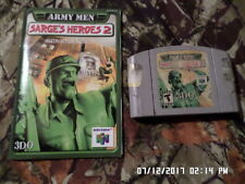 Army Men: Sarge's Heroes 2 w/ Instruction Manual (Nintendo 64, 2000) N-64 Game