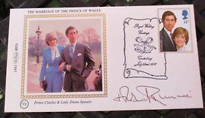 FDC Signed Archibishop Robert Runcie, at Prince Charles, Lady Diana wedding,1981