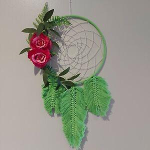 Large Handmade Floral Tropical Macrame Dream Catcher