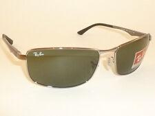 New  RAY BAN  Sunglasses  Gunmetal  Frame  RB 3498 004/71  Green Lenses  61mm