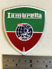 Lambretta Club Shield (Grren/Red) Patch  - Embroidered - Iron or Sew On