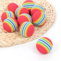 10Pcs Golf Sports Golfer Training Rainbow EVA Soft Balls Toy For Indoor Practice