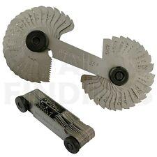 Whitworth 55 Blade Screw Pitch Thread Gauge BSW Metric Nuts Bolts LOCKABLE BOLT