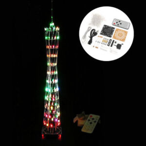 Colorful LED Light Cube Tower Suite Remote Control Electronic DIY Kit new ATF