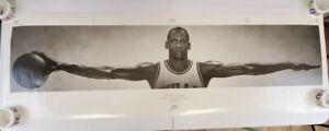 Vtg 6 ft. 1998 Michael Jordan Nike Wings Poster William Blake Original Wingspan
