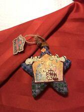"Jim Shore Heartwood Creek Nativity Star Hanging Ornament 5"""